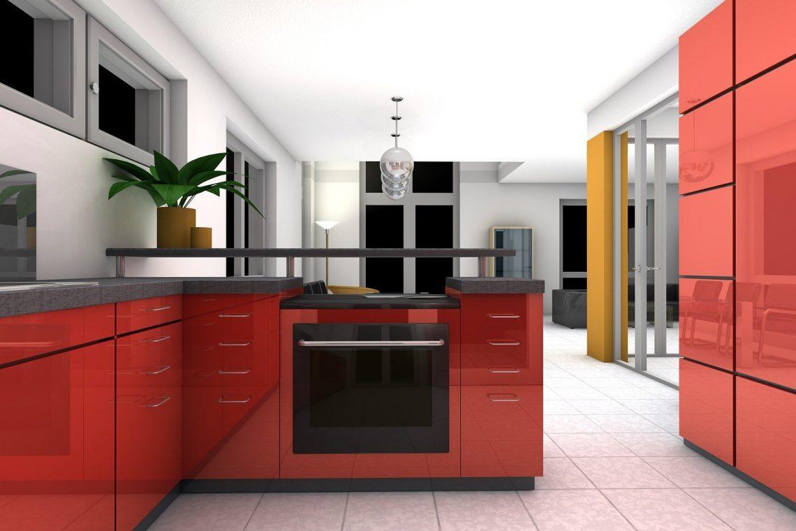 Kitchen Dining Room Rendering Interior Apartment