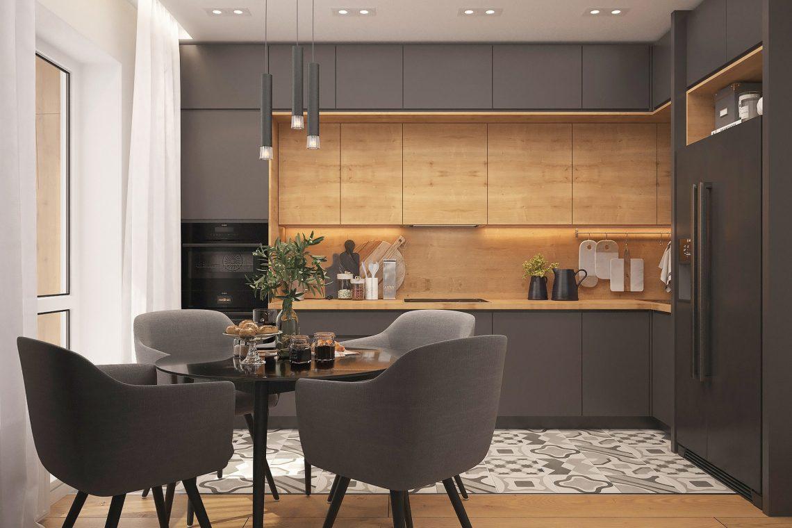 Kitchen Loft Strict Style Interior Design