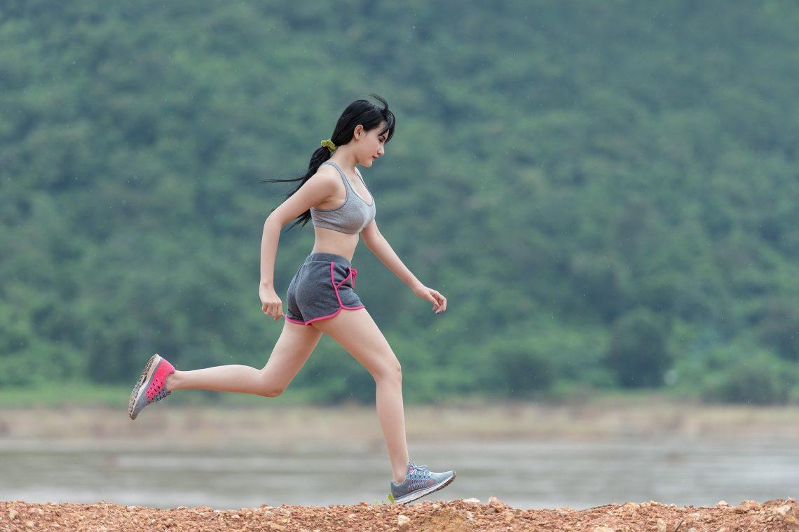 Woman Running Run Fitness Sports Outdoor